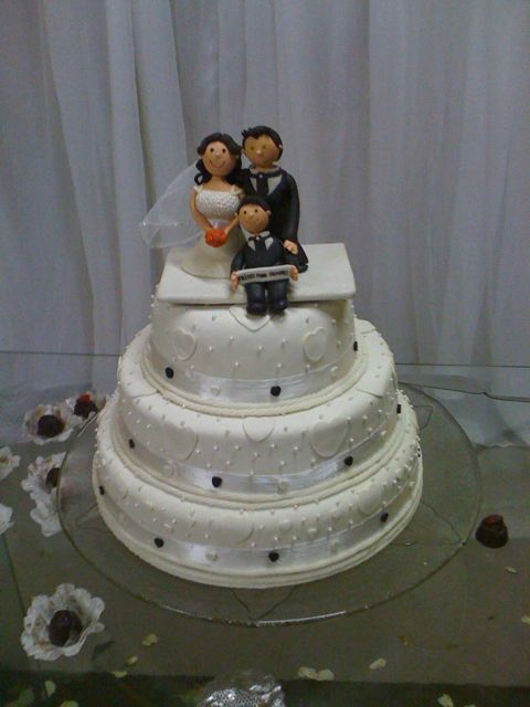 Bolo de Casamento de Biscuit